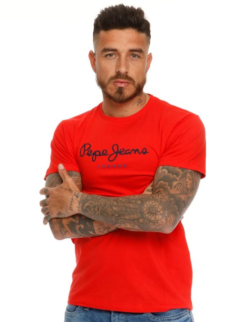 T-shirt Pepe Jeans con logo - Rosso
