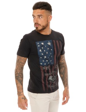 T-shirt  Fred Mello con stampa USA