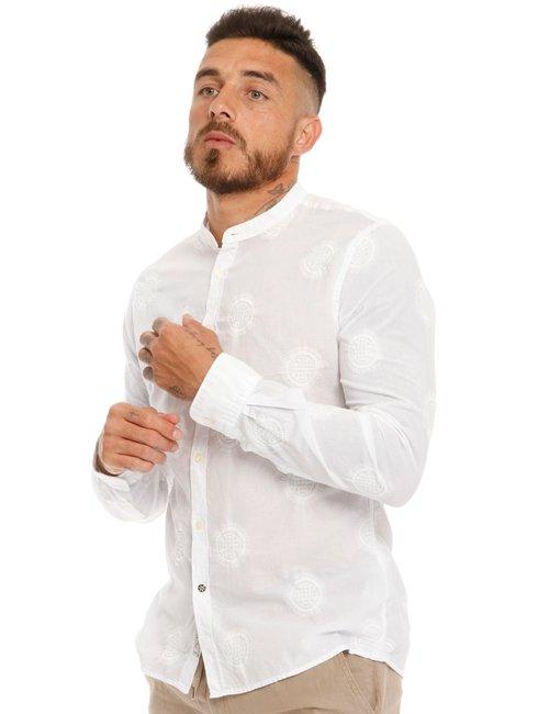 Camicia Fred Mello in cotone ricamato - Bianco