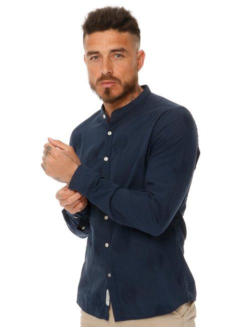 Camicia Fred Mello in cotone ricamato - Blu