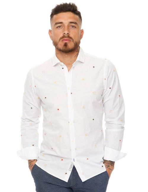 Camicia Fred Mello con ricami - Bianco