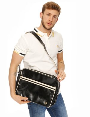 Tracolla Fred Perry in ecopelle