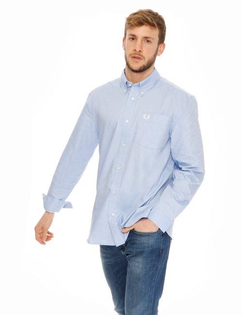 Camicia Fred Perry in cotone - Azzurro