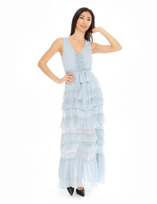 Vestito Fracomina con balze - Azzurro