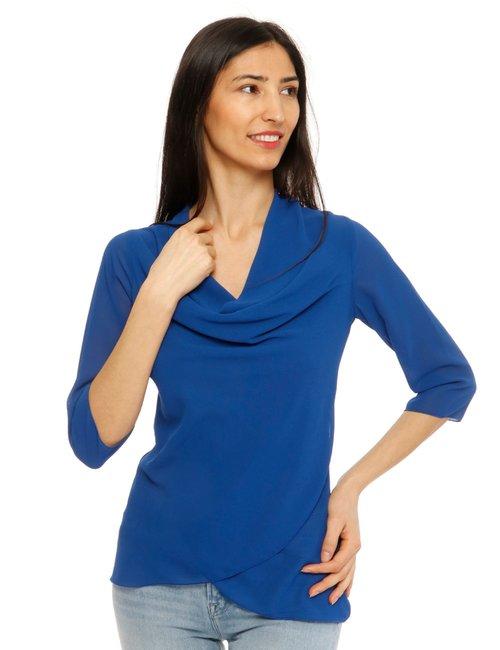 Camicia Vougue scollo ampio - Blu
