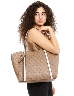Borsa Guess logo all over con inserto rimovibile