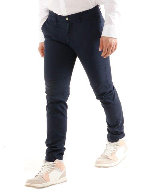 Pantalone  Asquani con logo inciso - Blu