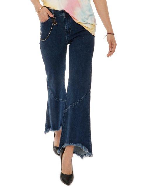 Pantalone Imperfect con catenella - Jeans