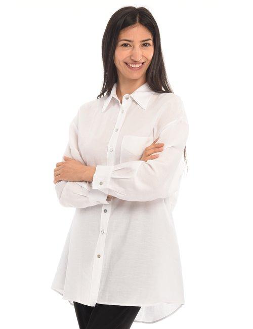 Camicia Vougue lunga - Bianco