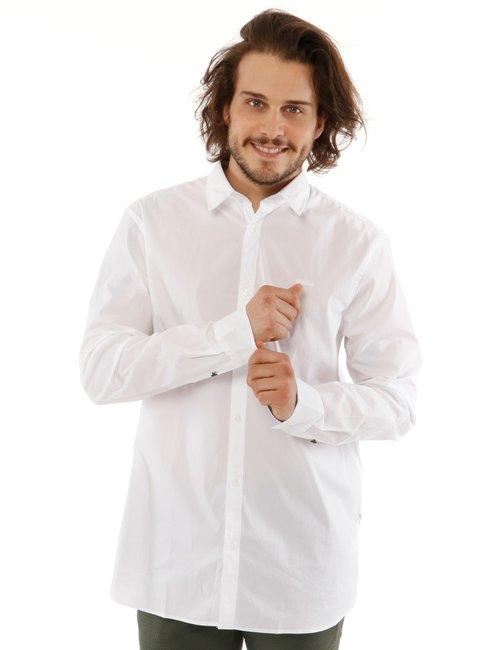 Camicia Guess con logo ricamato - Bianco