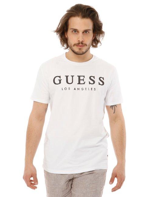 T-shirt Guess con logo in rilievo - Bianco