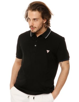 Polo  Guess con logo in rilievo