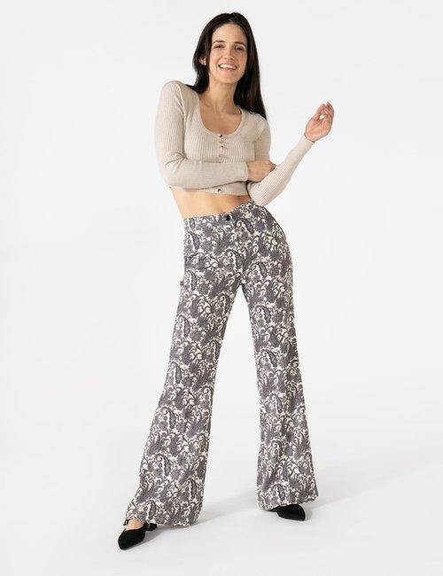 Pantalone Vougue con zip - Fantasia