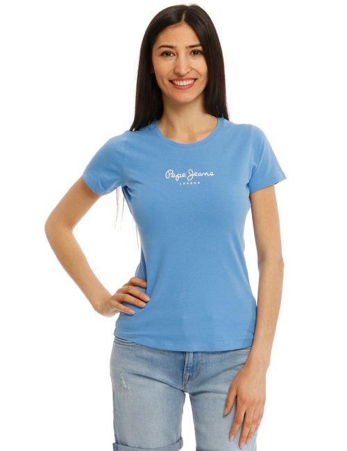 T-shirt Pepe Jeans con logo - Azzurro