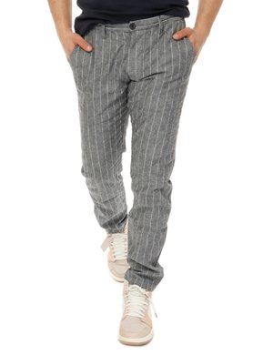 Pantalone  Yes zee con logo in pelle