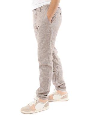 Pantalone Yes zee con logo in pelle