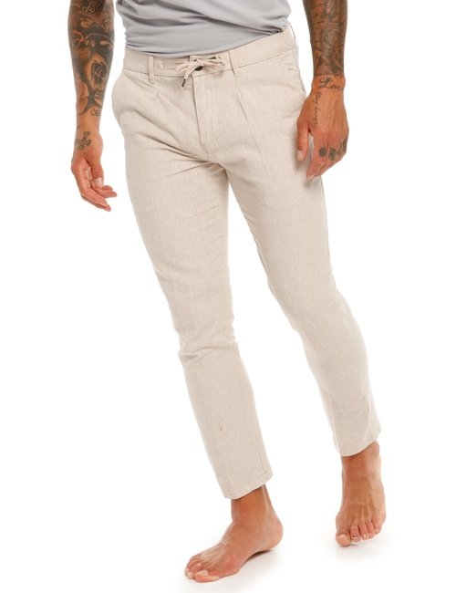 Pantalone Yes Zee in lino e cotone - Beige