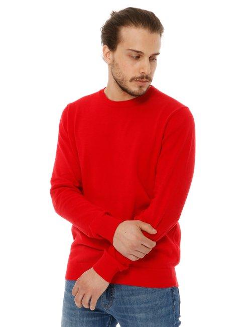 Maglione Nick Logan basic - Rosso