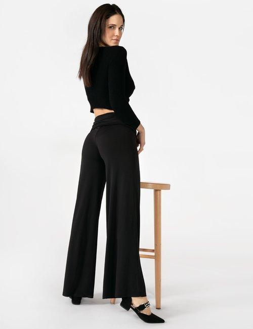 Pantalone Vougue con fascia elasticizzata - Nero