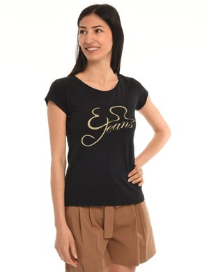 T-shirt Yes Zee con strass