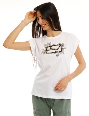 T-shirt Yes Zee con applicazioni