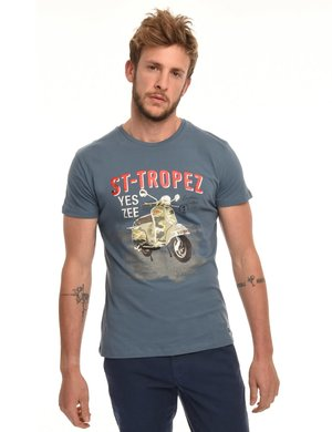 T-shirt Yes Zee stampa vintage