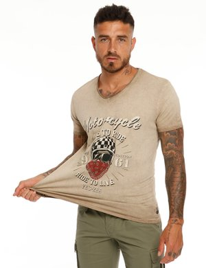 T-shirt Yes Zee effetto vintage