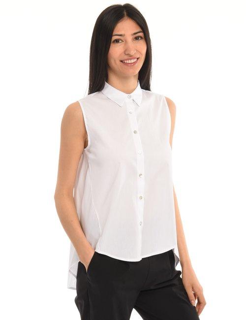 Camicia Vougue smanicata - Bianco