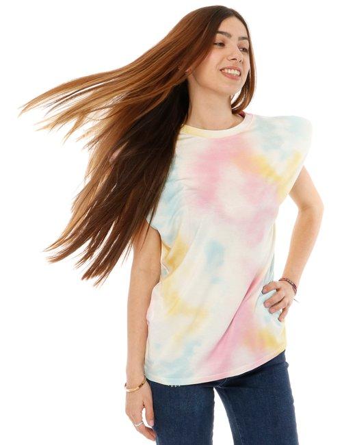 T-shirt Vougue con dettaglio su spalla - Fantasia