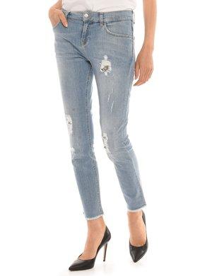 Jeans Liu Jo effetto consumato con strass