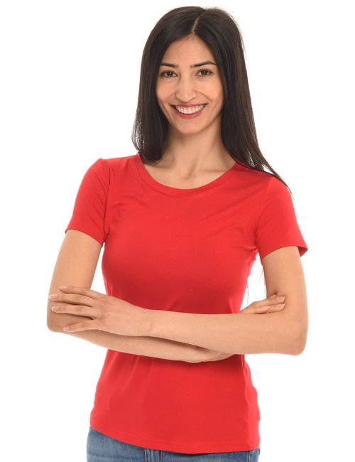 T-shirt Vougue basic - Rosso