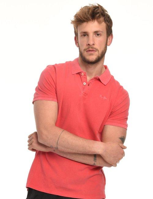 Polo Pepe Jeans delavè - Rosso