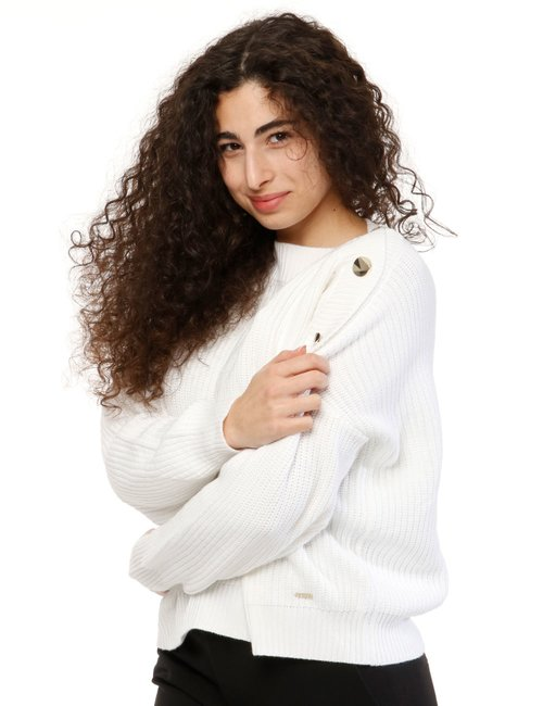 Maglione Guess con bottoni - Bianco