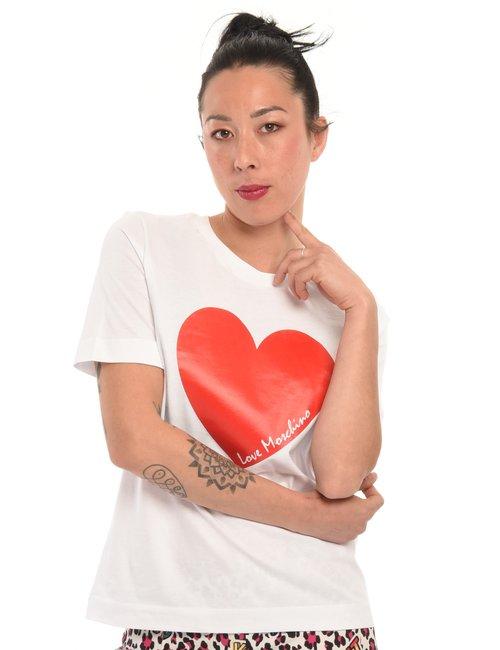 T-shirt Love Moschino cuore - Bianco