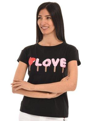 T-shirt Love Moschino stampata