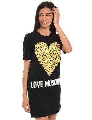 Vestito Love Moschino cuore animalier