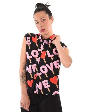 Camicia Love Moschino smanicata