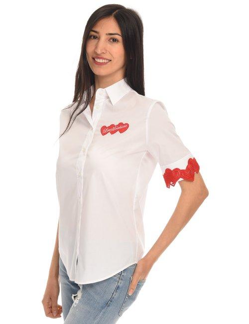 Camicia Love Moschino con cuori - Bianco