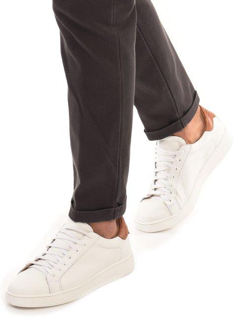 Sneaker Cafè Noir con dettaglio a contrasto - Bianco