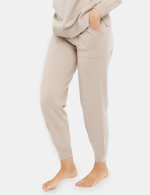 Pantalone Smiling London in maglia - Beige