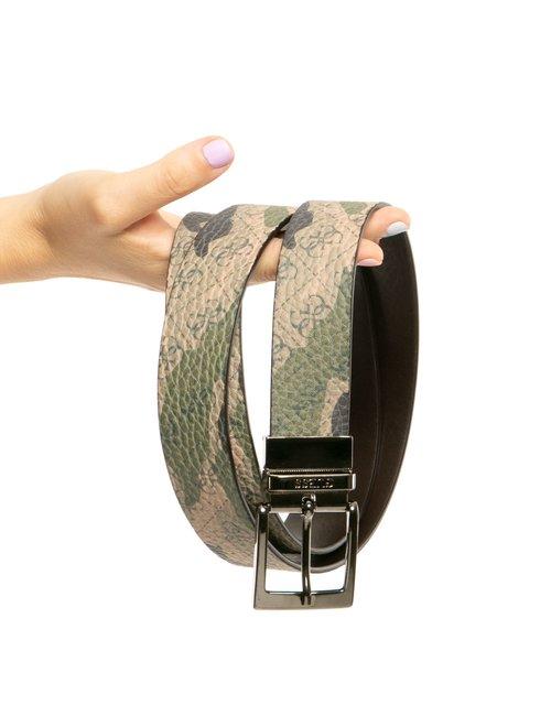 Cintura Guess con logo all-over - Verde