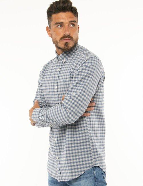 Camicia Gant a quadretti - Azzurro