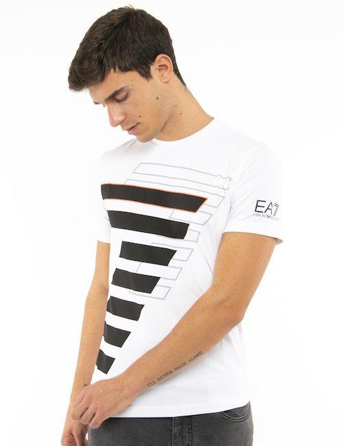 T-shirt EA7 con stampa - Bianco
