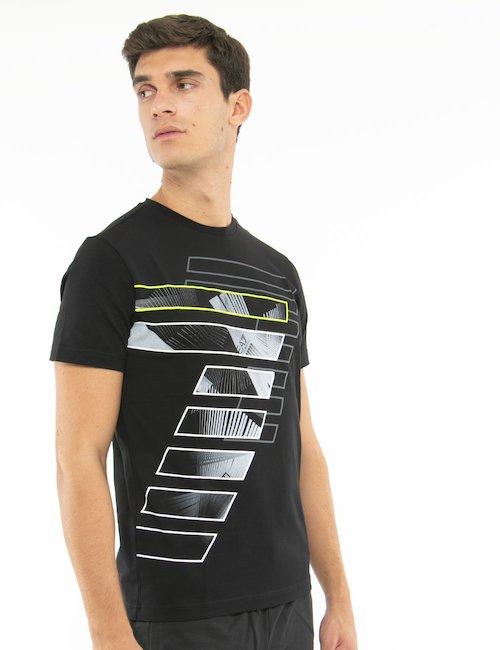T-shirt EA7 con stampa - Nero