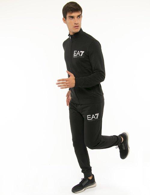 Tuta EA7 con zip - Nero