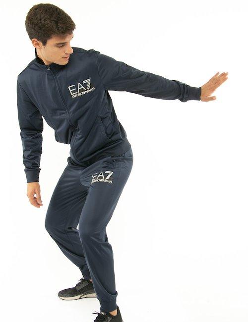 Tuta EA7 con logo a lato - Blu