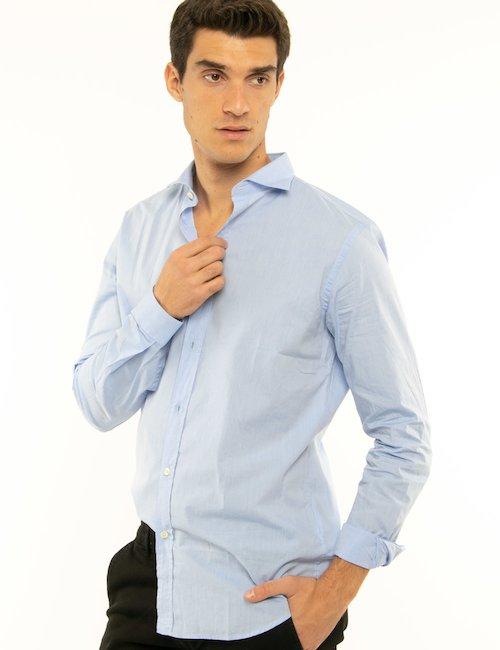 Camicia Liu Jo tinta unita - Azzurro