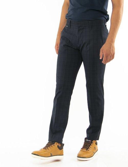 Pantalone Guess fantasia a quadri - Blu