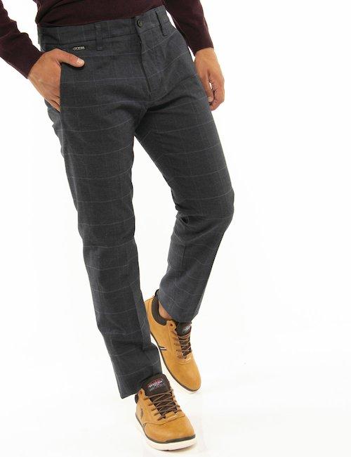 Pantalone Guess a quadri - Grigio
