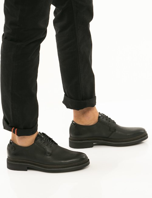 Scarpa U.S. Polo in pelle - Nero